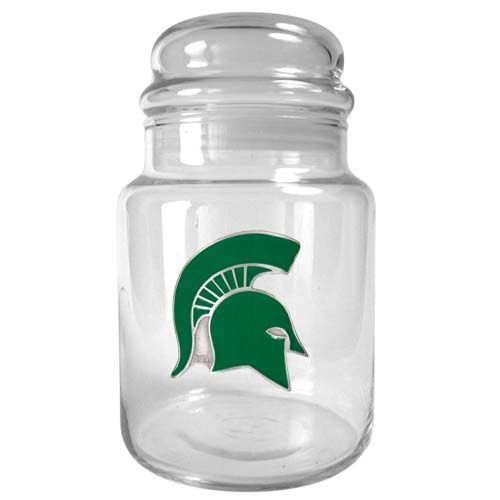 Michigan State Spartans NCAA Candy Jar (Clear)