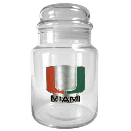 Miami Hurricanes NCAA Candy Jar (Clear)
