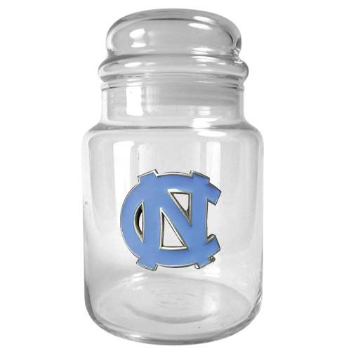 North Carolina Tar Heels NCAA Candy Jar (Clear)