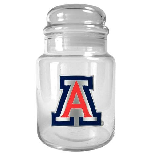 Arizona Wildcats NCAA Candy Jar (Clear)