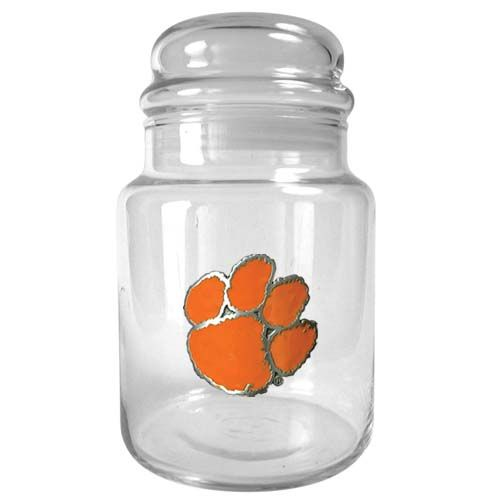 Clemson Tigers NCAA Candy Jar (Clear)