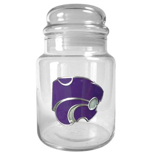 Kansas State Wildcats NCAA Candy Jar (Clear)