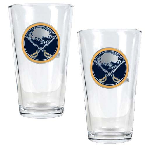 Buffalo Sabres NHL 2 Piece Pint Glass Set (Clear)