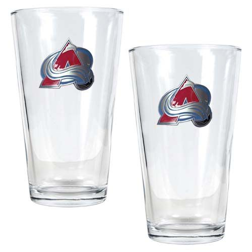 Colorado Avalanche NHL 2 Piece Pint Glass Set (Clear)