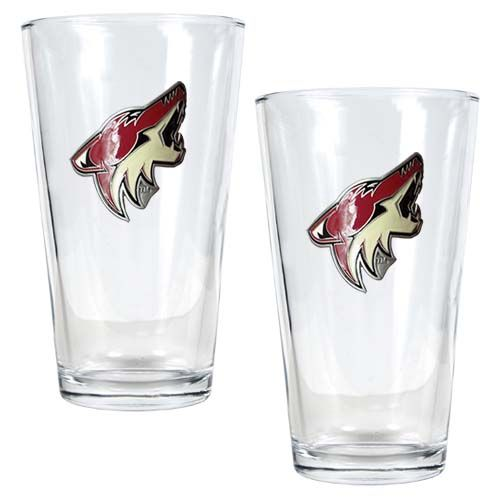Arizona Coyotes NHL 2 Piece Pint Glass Set (Clear)