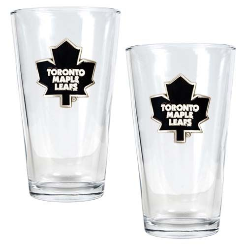 Toronto Maple Leafs NHL 2 Piece Pint Glass Set (Clear)