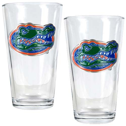 Florida Gators NCAA 2 Piece Pint Glass Set (Clear)