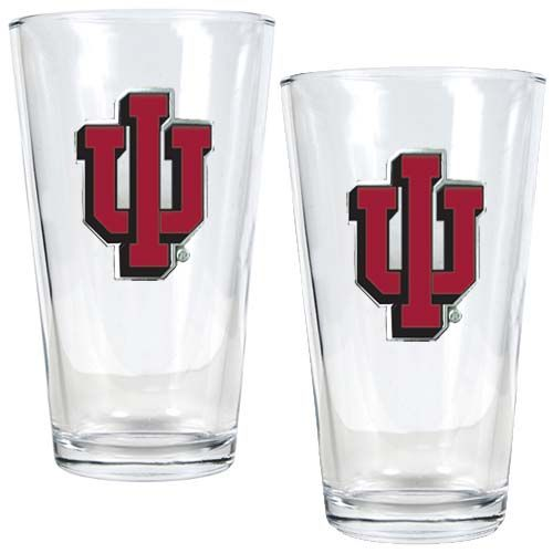 Indiana Hoosiers NCAA 2 Piece Pint Glass Set (Clear)