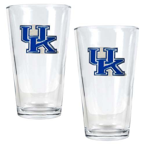 Kentucky Wildcats NCAA 2 Piece Pint Glass Set (Clear)