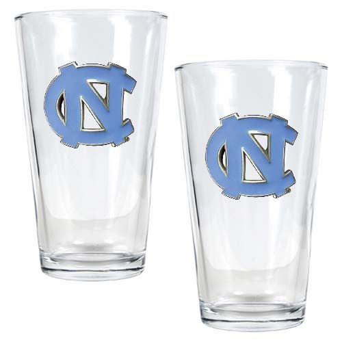 North Carolina Tar Heels NCAA 2Pc Pint Glass Set (Clear)