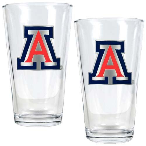 Arizona Wildcats NCAA 2 Piece Pint Glass Set (Clear)