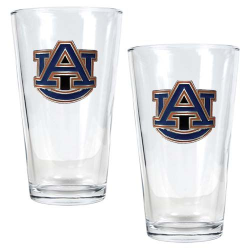 Auburn Tigers NCAA 2 Piece Pint Glass Set (Clear)