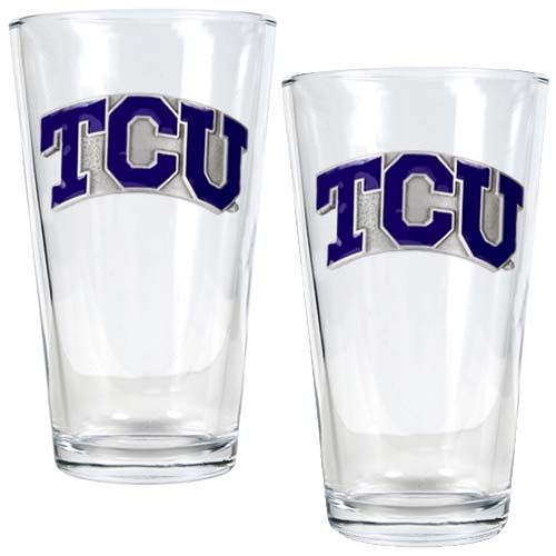 TCU Horned Frogs NCAA 2Pc Pint Glass Set (Clear)