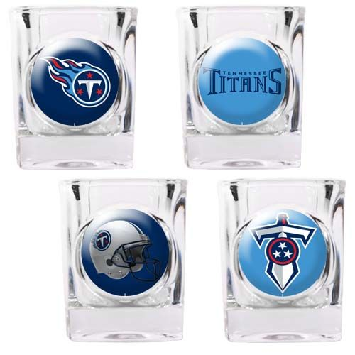 Tennessee Titans 4 Piece Collector's Shot Glass Set