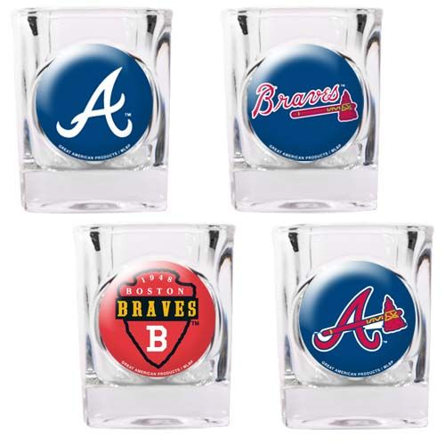 Atlanta Braves Atlanta Braves 4 Piece Collector's Shot Glass Set