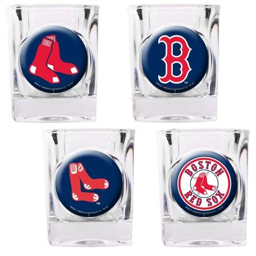 Boston Red Sox Boston Red Sox 4 Piece Collector's Shot Glass Set