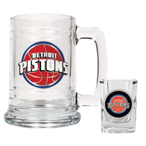 Detroit Pistons NBA Boilermaker Set (Clear)