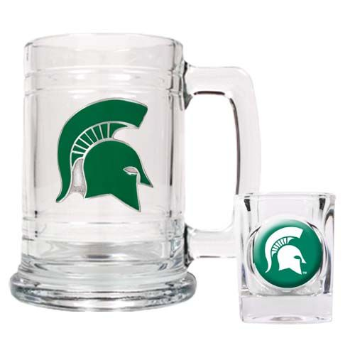 Michigan State Spartans NCAA Boilermaker Set (Clear)