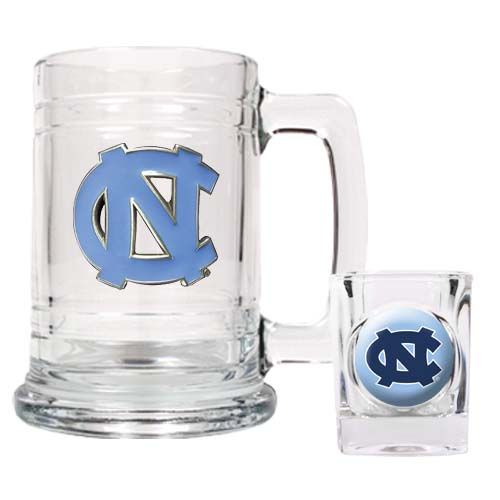 North Carolina Tar Heels NCAA Boilermaker Set (Clear)