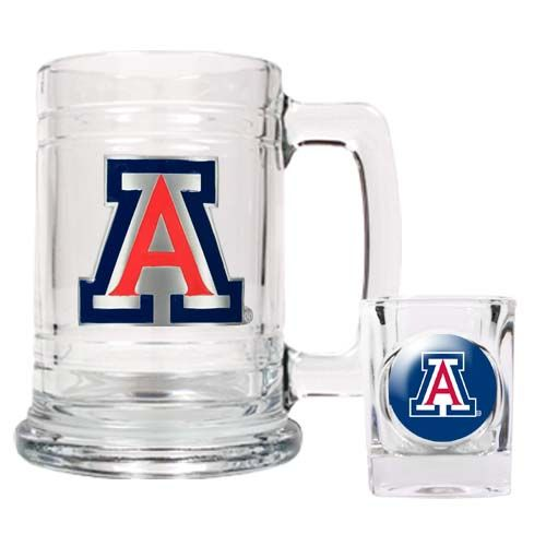 Arizona Wildcats NCAA Boilermaker Set (Clear)