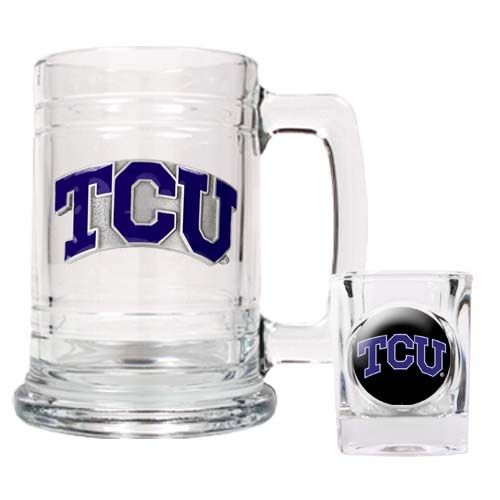 TCU Horned Frogs NCAA Boilermaker Set (Clear)