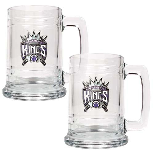 Sacramento Kings NBA 2 Piece Glass Tankard Set (Clear)