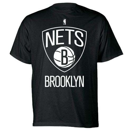 Majestic Brooklyn Nets Primary Logo T-Shirt (Black)