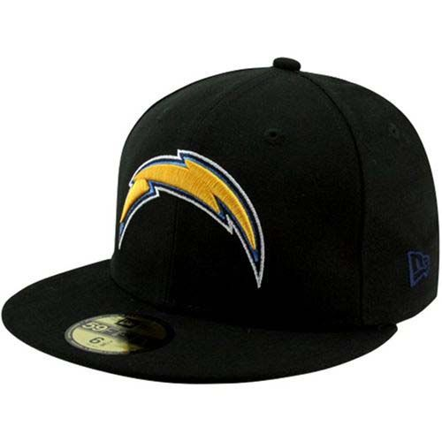 New Era Los Angeles Chargers Black Team Color 59Fifty Fitted Hat (Black)