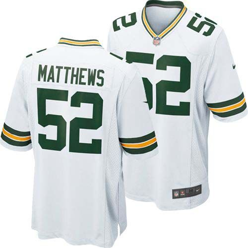 Clay Matthews Green Bay Packers Nike Youth Replica Game Jersey (White)