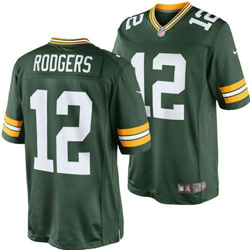 Green Bay Packers Aaron Rodgers #12 NFL Nike Limited Jersey (Green)
