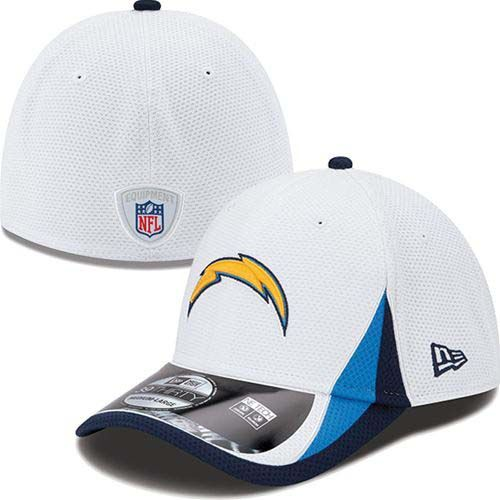 Los Angeles Chargers New Era NFL 2013 Training 39Thirty Flex-Fit Hat (White)