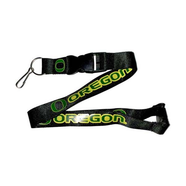 Oregon Ducks NCAA Team Logo Lanyard (Black)