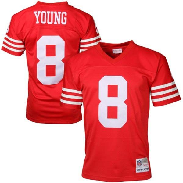 Steve Young San Francisco 49ers Mitchell & Ness Retro Replica Jersey (Red)
