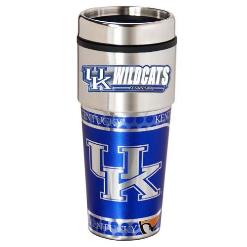 Kentucky Wildcats 16 oz Stainless Steel Travel Tumbler with Metallic Graphics