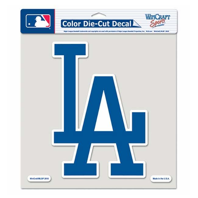 Los Angeles Dodgers 8 Color Die Cut Decal