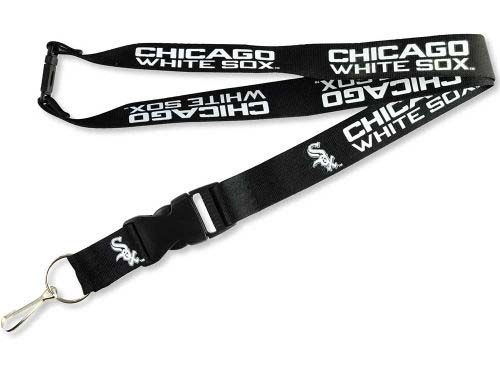 Chicago White Sox MLB Team Logo Lanyard (Black)