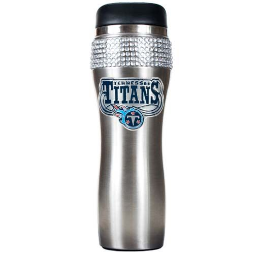 Tennessee Titans Stainless Steel Bling Travel Tumbler (Silver)