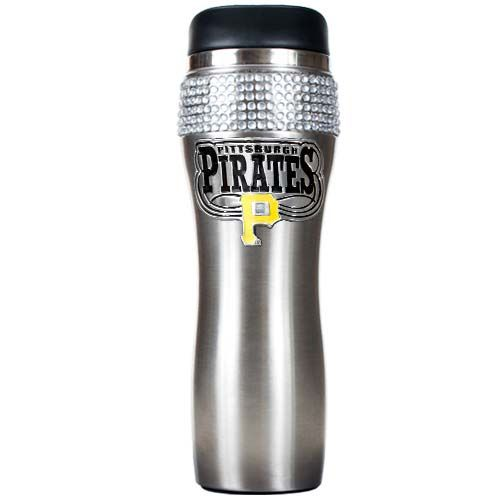 Pittsburgh Pirates MLB Pittsburgh Pirates Stainless Steel Bling Travel Tumbler (Silver)