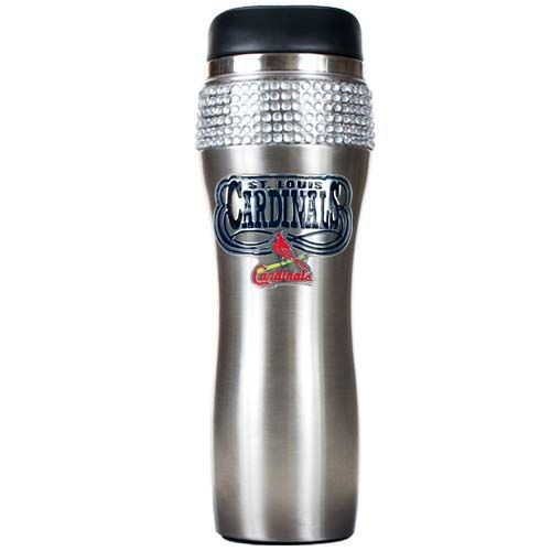 St. Louis Cardinals MLB St. Louis Cardinals Stainless Steel Bling Travel Tumbler (Silver)