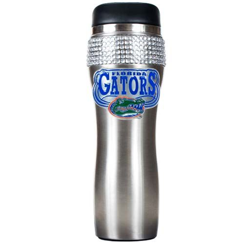 Florida Gators NCAA Florida Gators Stainless Steel Bling Travel Tumbler (Silver)