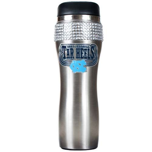 North Carolina Tar Heels NCAA North Carolina Tar Heels Stainless Steel Bling Travel Tumbler (Silver)