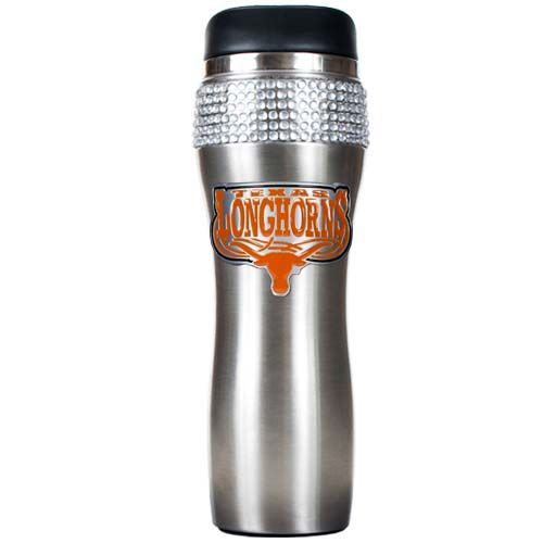 Texas Longhorns NCAA Texas Longhorns Stainless Steel Bling Travel Tumbler (Silver)