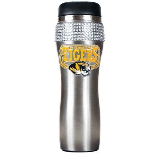 Missouri Tigers NCAA Missouri Tigers Stainless Steel Bling Travel Tumbler (Silver)