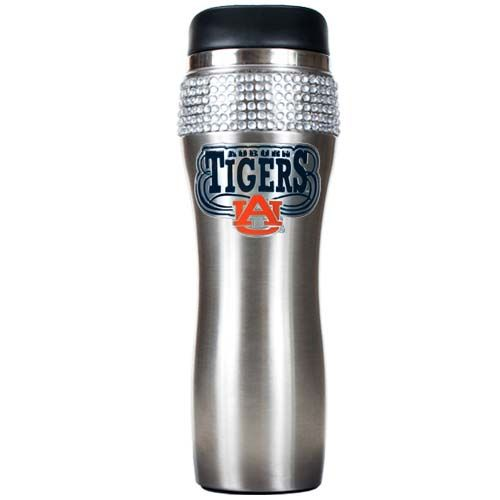 Auburn Tigers NCAA Auburn Tigers Stainless Steel Bling Travel Tumbler (Silver)