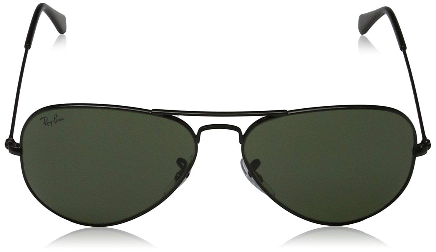 Ray-Ban RB3025 Aviator Large Metal Eyeglass Frames, Black (Black), 58 mm Mixed Adult