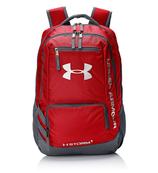 Under Armour Storm Hustle II Backpack, Red (600)/Silver, One Size