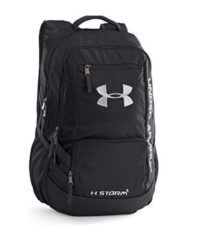 Under Armour Storm Hustle II Backpack, Black (001)/Silver, One Size